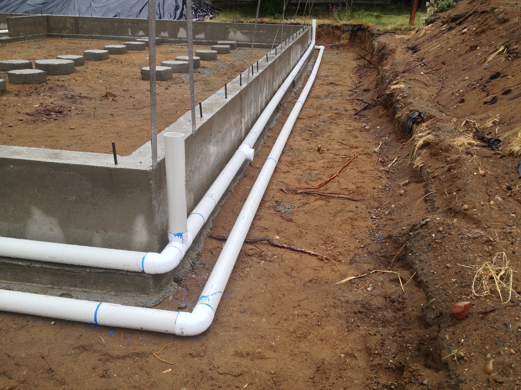 Foundation Drain System : Detention and infiltration or rain water you