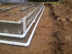 Gutter and footing drains