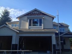 Siding completed