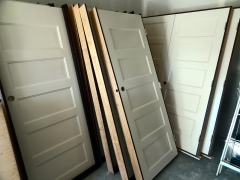 Doors waiting to be installed