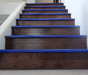 Hardwood stair faces