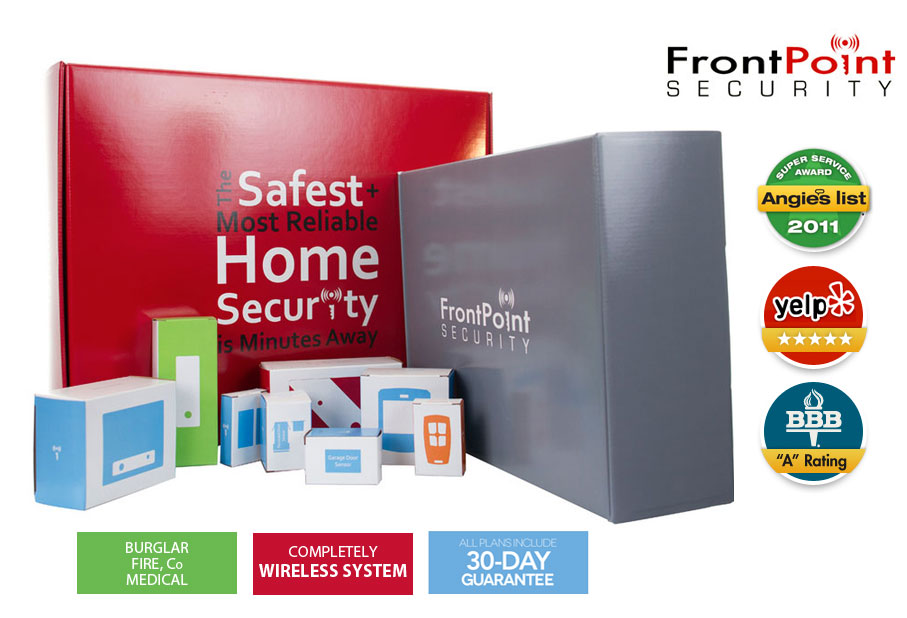 frontpoint security product boxes